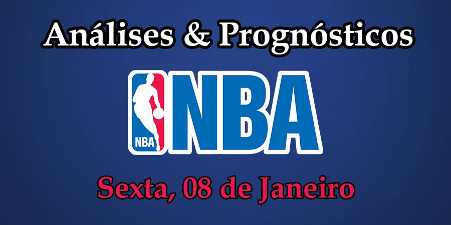 Análise e Prognósticos NBA - Sexta Feira 8 Janeiro